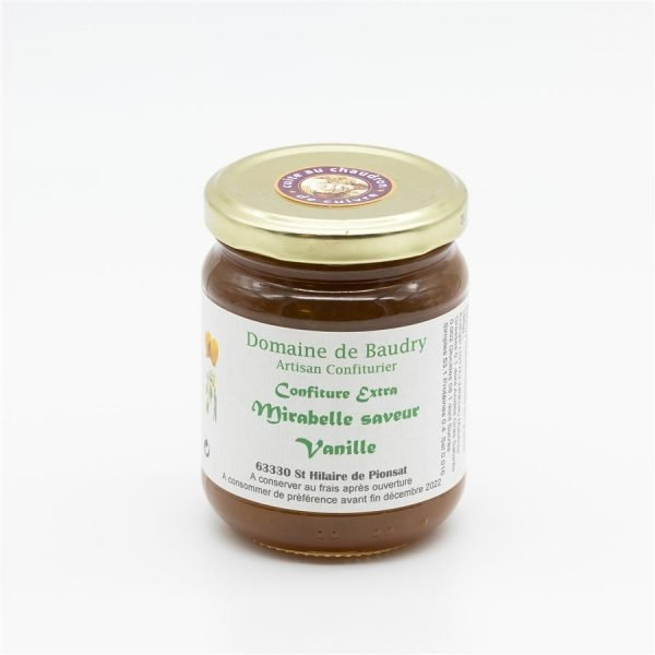 Confiture extra Mirabelle saveur Vanille 250g