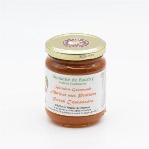 Spécialité gourmande Abricot aux Pralines Roses concassées 250g