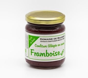 Confiture de Framboise Bio Allégée en Sucre 240g