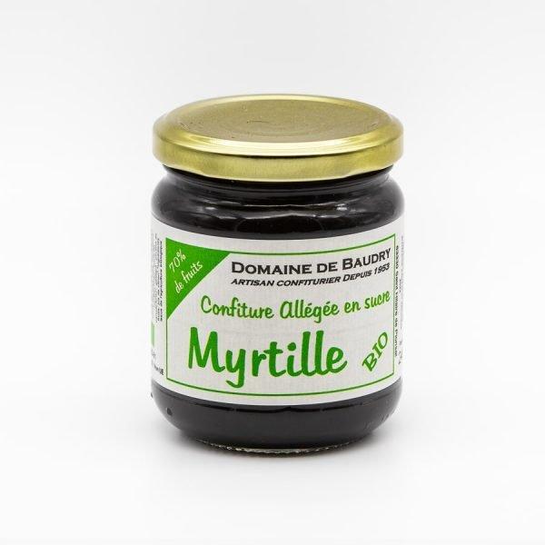 Confiture de Myrtille Bio Allégée en Sucre 240g