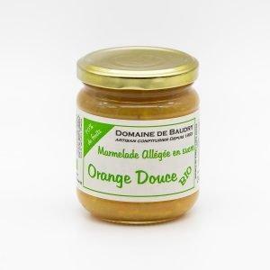 Marmelade Allégée en Sucre d'Orange Douce Bio 240g