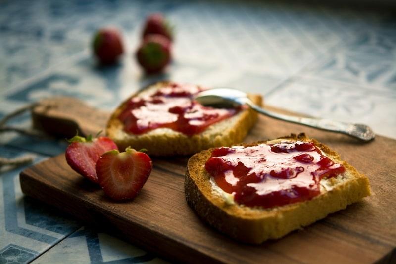 Tartine de fraise bio sucrenature.com